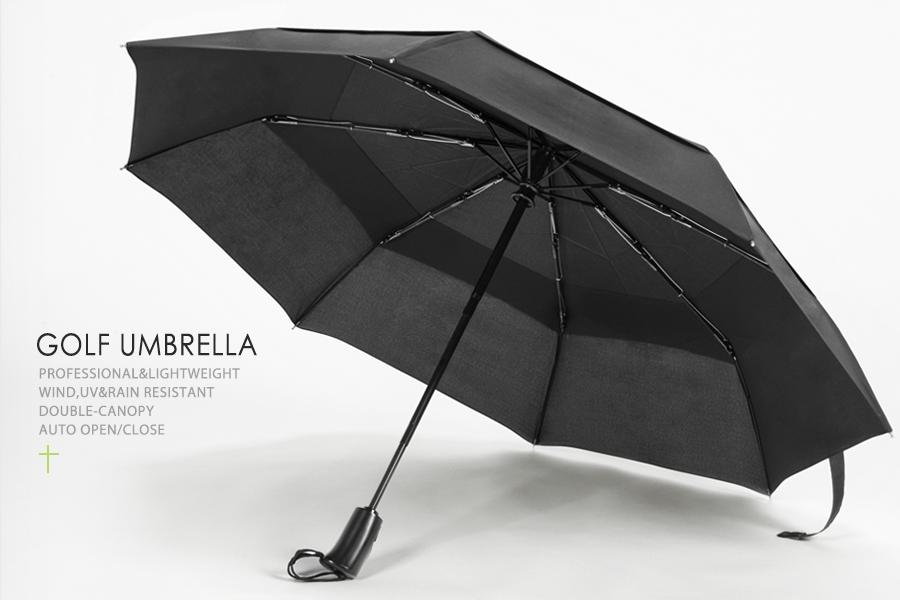 Double-Canopy Design & Amazon.com : Golf Umbrella Oak Leaf Windproof Lightweight 210T ...