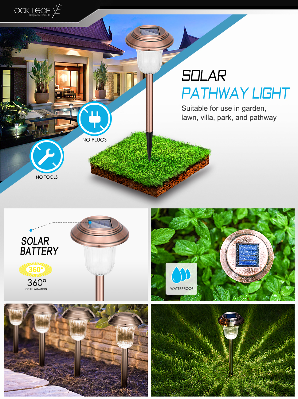 solar path lights to light up your pathway for visibility and decoration this elegantly designed solar light is made of beautiful stainless steel - Solar Pathway Lights
