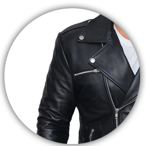 Decrum Motorcycle Jackets For Men Black Slim Fit Biker Leather