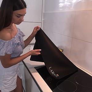Amazon.com: Cubierta para estufa Larsic, gruesa hoja de goma ...