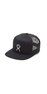 hydro flask logo trucker hat