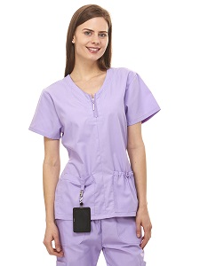 ef8d4e0c8a1 Amazon.com: Denice Womens Medical Uniforms Mackenzie Zip Neckline ...