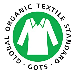 Global Organic Textile Standard GOTS Certificiation from Europe GMO free. No toxins, no chemicals.