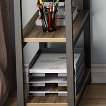 2-tier open storage space