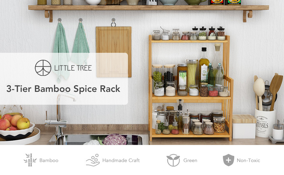 Bamboo Spice Rack