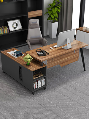 Amazon Com L Shaped Desk Tribesigns Large Executive Office Desk Computer Table Workstation