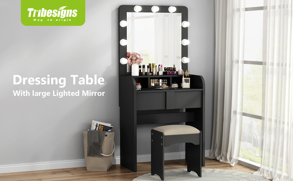 tribesigns dressing table