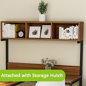 Open storage on hutch
