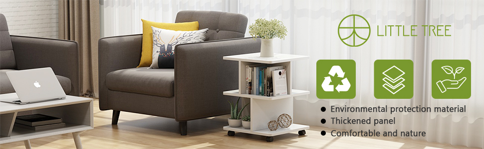 Amazon.com: LITTLE TREE - Mesa auxiliar moderna para salón ...