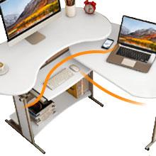 spacious tabletop