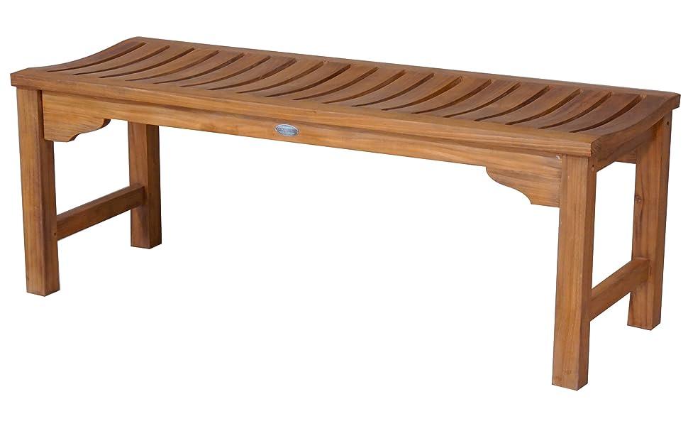 Superb Teak Wood Santa Monica Outdoor Patio Backless Bench 4 Foot Made From Solid A Grade Teak Wood Spiritservingveterans Wood Chair Design Ideas Spiritservingveteransorg
