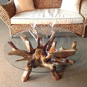 Amazon.com: Teak Root Coffee Table Including 43 Inch Round ...