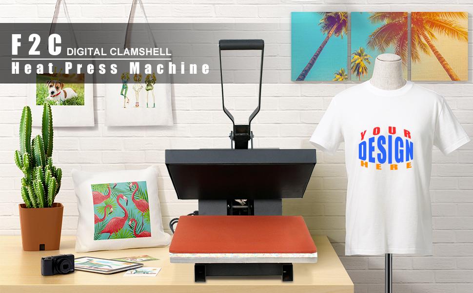 F2C 15X15 Heat Press Machine Tshirts