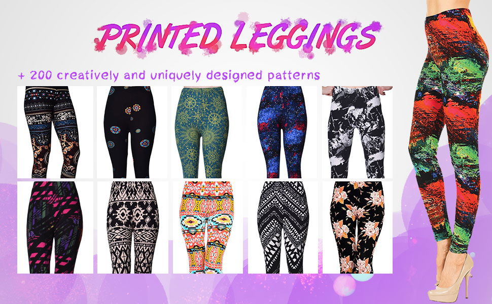 printed brushed leggings high waist leggings grey skull neon mermaid navy blue workout tunic top