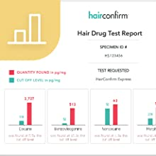 HairConfirm 10 Panel Hair Drug Test Collection Kit Only, 90 Day Detection  Additional Lab Fee Required