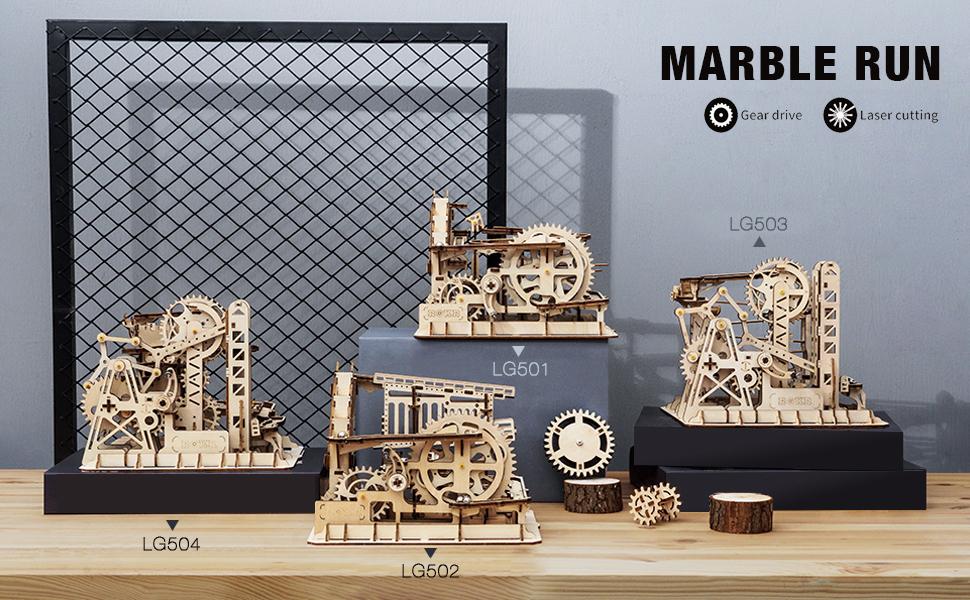 Science ROKR 3D Wooden Puzzle Mechanical Gears Set DIY