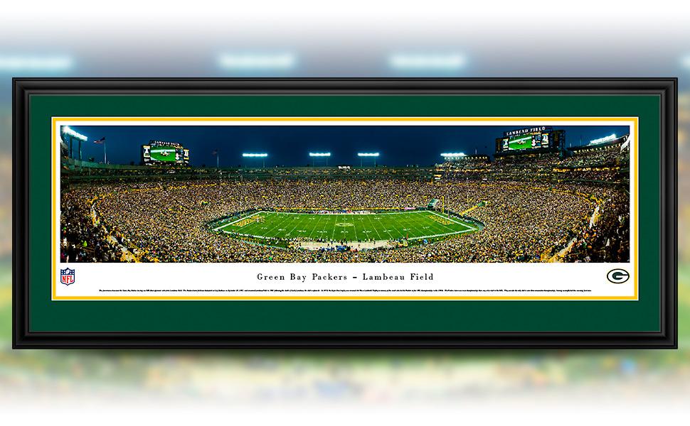 3cc10f14 Green Bay Packers - 50 Yard - Night - Blakeway Panoramas NFL Posters