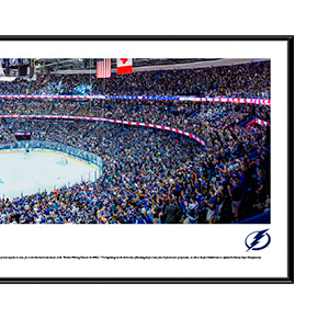 Everlasting Images Tampa Bay Lightning Stanley Cup Champions 2004-13.5x39 Standard Black Frame