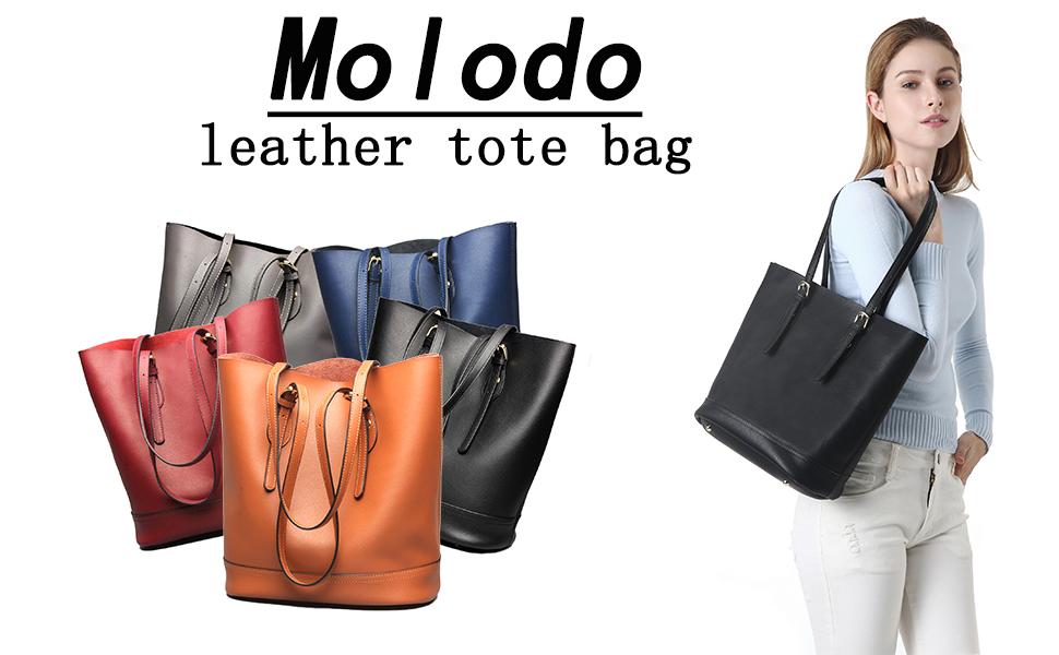 Molodo Women Genuine Leather Fashion Big Shoulder Bag Purse Girls Large Handbag  Tote Bags ab7a2748b4a0f
