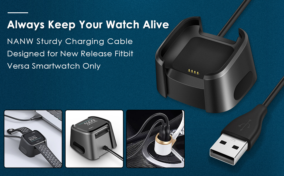 Amazon.com: NANW Charger Compatible with Fitbit Versa
