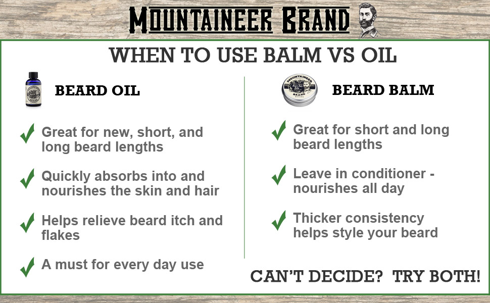 Beard oil and balm, Mountaineer Brand beard oul vs Mountaineer Brand Beard Balm