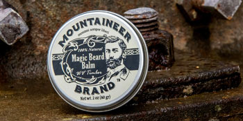 Beard care balm from mounter beard brand - unscented beard balm. Can be used as goatee conditioner.