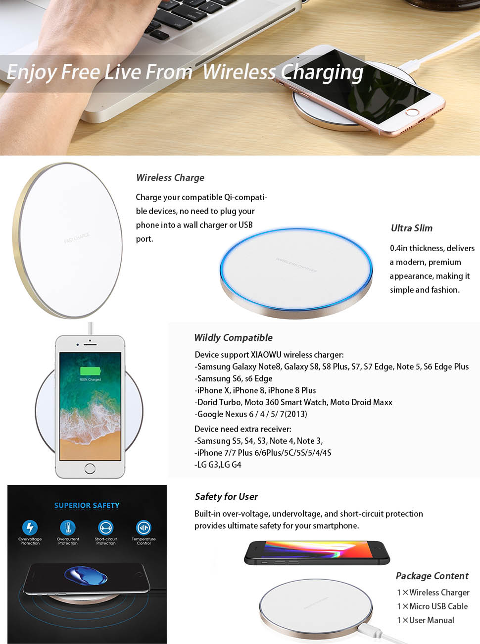 Amazoncom Qi Wireless Charger For Samsung Galaxy S9 S9 Plus