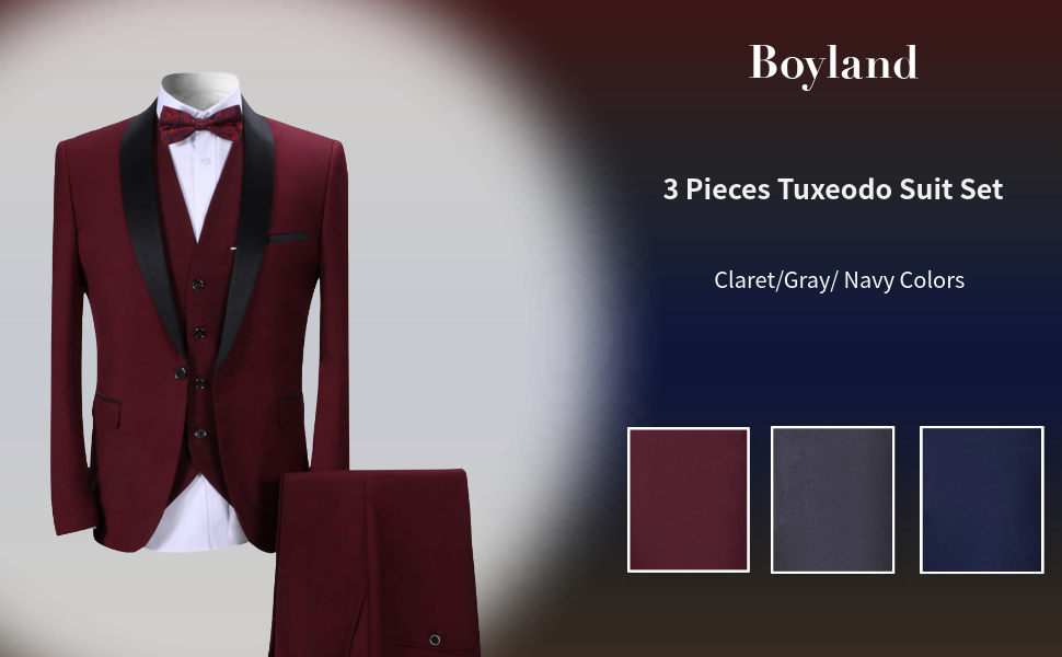 mens 3 pieces tuxedo suits