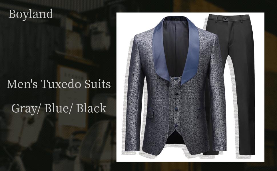 gray tuxedo suits