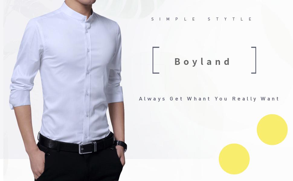 Amazon.com: Boyland - Camisa de algodón para hombre, cuello ...