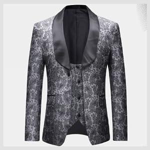 Amazon.com: Boyland - Traje de novio para hombre, 3 piezas ...