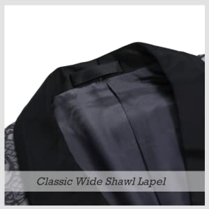 wide shawl lapel