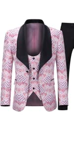 tuxedo pink suit
