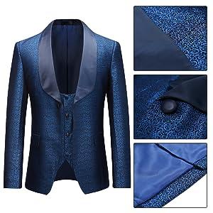 blue tuxedo suit