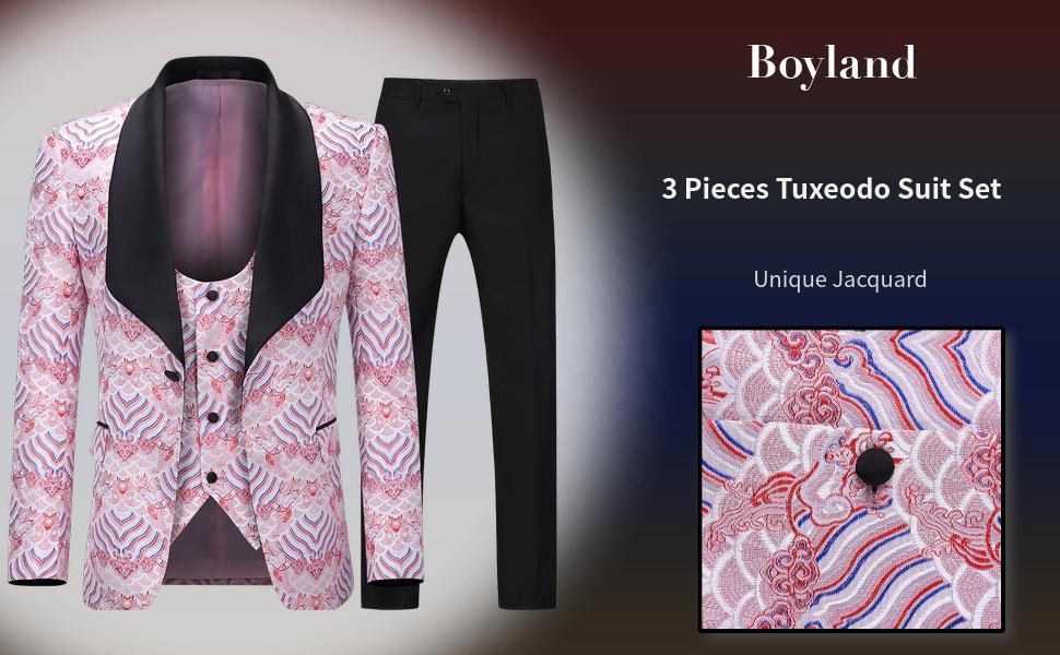 boyland 3 pieces tuxedo suits