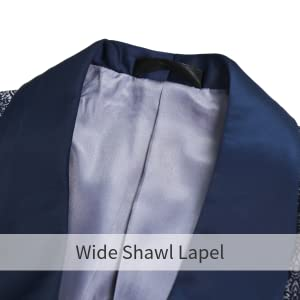 wide shawl lape;