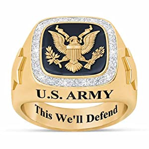personalized army ring