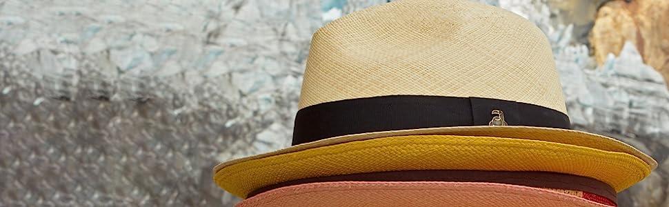 Original Panama Hat - White Classic Fedora - Black Band - Toquilla Straw -  Handwoven in Ecuador by Ecua-Andino