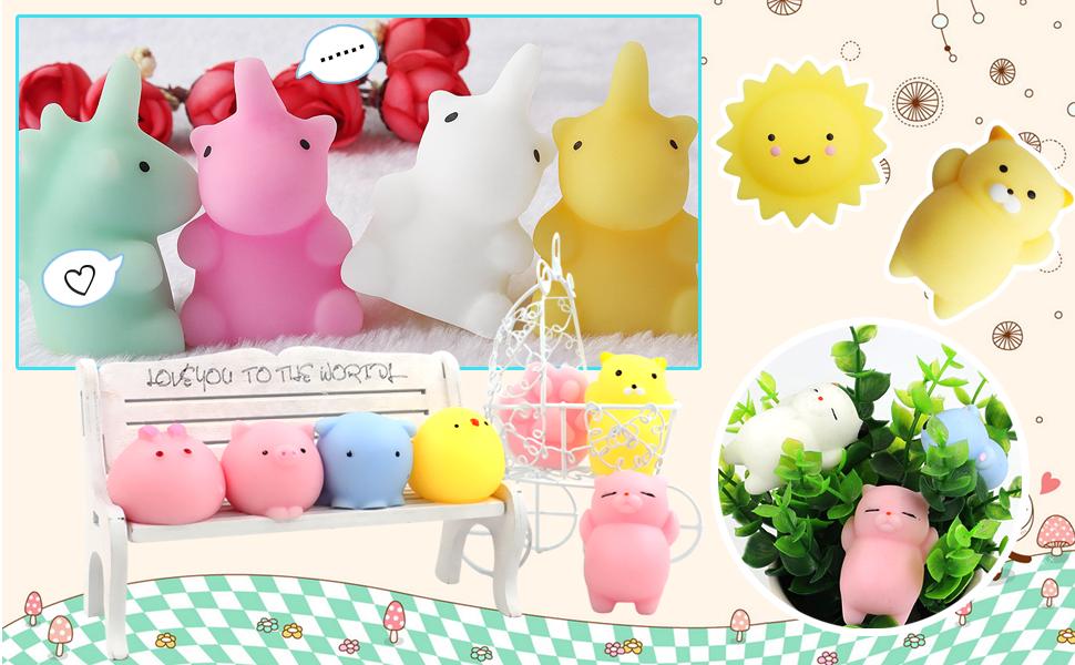 Amazon.com: POKONBOY Mochi Squishy Toys Squishies – Pack de ...