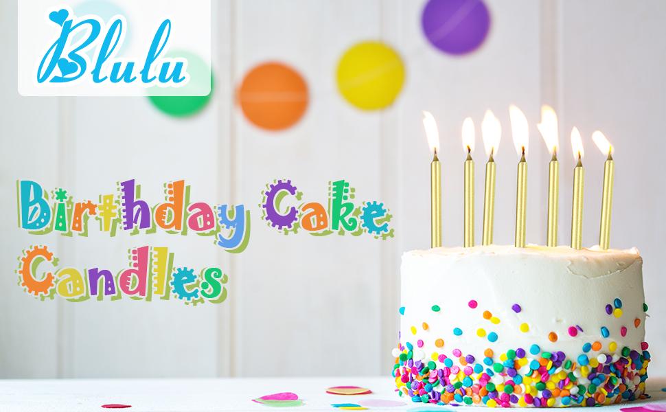 Amazon.com: Blulu - 50 velas largas finas metálicas para ...