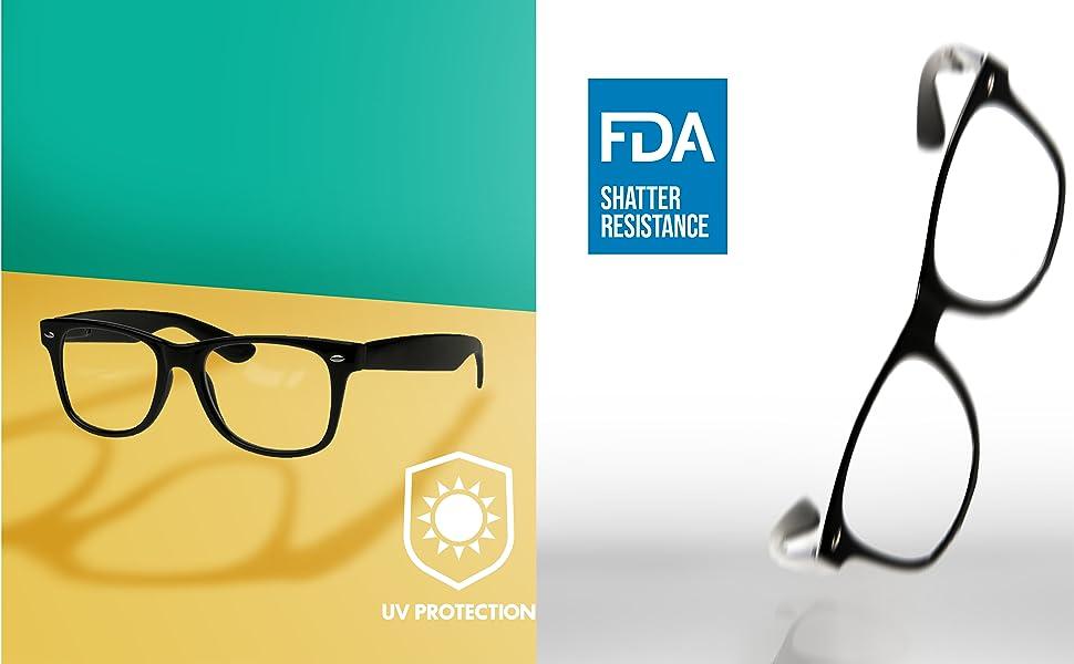 Amazon.com: Goson Clear Lens Eye Glasses Non Prescription