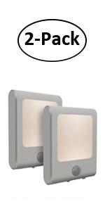 2 LED see on TV Lampe mit Bewegungsmelder und Dämmerungssensor Nachtlicht