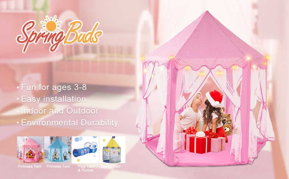 Intency Pink Princess Castle Kids Play Tent Large & Pink Princess Tent Instructions - Best Tent 2018