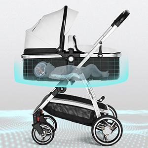 Amazon.com: Springbuds Newber - Carrito de bebé de alta gama ...