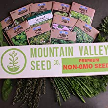 herb seeds indoor herb seed garden mountain valley seed company us grown non-gmo