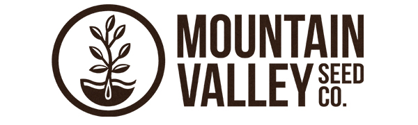 Mountain Valley Seed Company brown logo against a white background