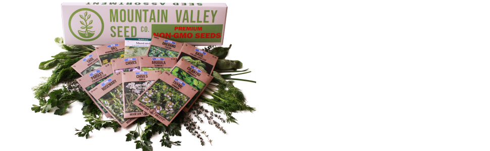 herb seed seeds garden mountain valley seed company assortment collection paper packets