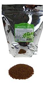 2.5 lb bulk handy pantry alfalfa sprouting seed organic non gmo non-gmo home sprouting kitchen