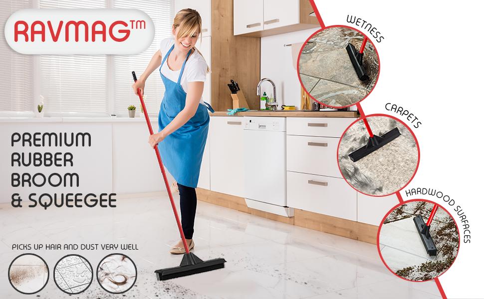 Amazon Com Ravmag Rubber Broom Amp Squeegee Design