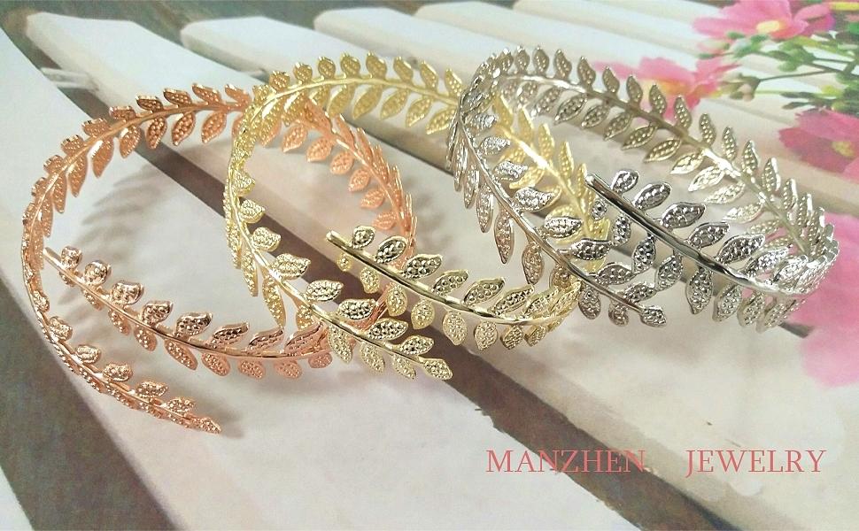 Amazon Com Manzhen Fashion Gold Tone Swire Leaf Upper Arm